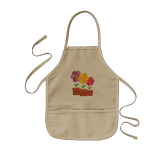 Three colorful Flowers Zo728 Kids Apron