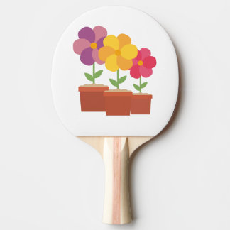 Three colorful Flowers Zo728 Ping Pong Paddle