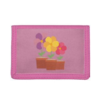 Three colorful Flowers Zo728 Trifold Wallet