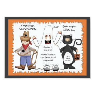 Three Costume Kids Invitation