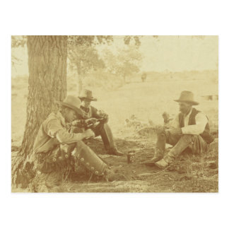 Three Cowboys With Tomato Can Postcard