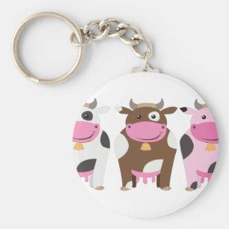 Three Cows Key Chain
