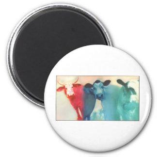 Three Cows Magnet