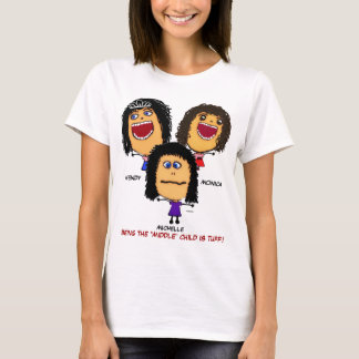 Three Crazy Sisters Cartoon T-Shirt