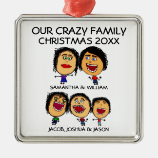 Three Crazy Sons Ornament