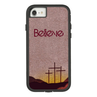 Three Crosses at Sunset (Metalic) Case-Mate Tough Extreme iPhone 8/7 Case