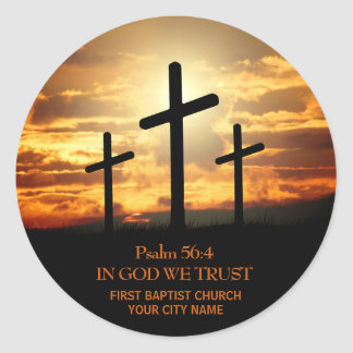 Three Crosses Bible Verse Sticker
