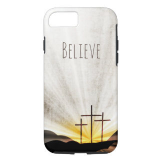 Three Crosses in Light Rays iPhone 8/7 Case