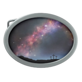 Three Crosses on a Hillside under the Milky Way Belt Buckles