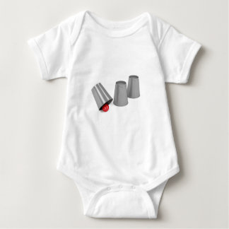 Three cups and a ball baby bodysuit