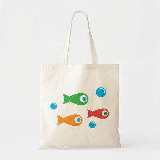 Three Cute Fish Budget Tote Bag