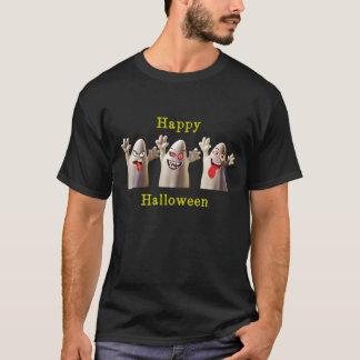 Three Cute Happy Halloween Ghosts T-Shirt