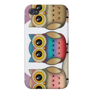 Three Cute Owls iPhone Case iPhone 4 Covers