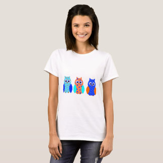 Three Cute Owls T-Shirt