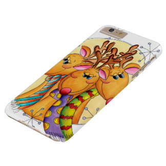 Three Cute Reindeer Wearing Scarves with Stars Barely There iPhone 6 Plus Case