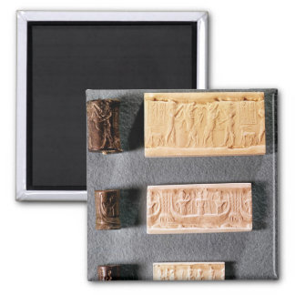 Three cylinder seals with impressions, magnet