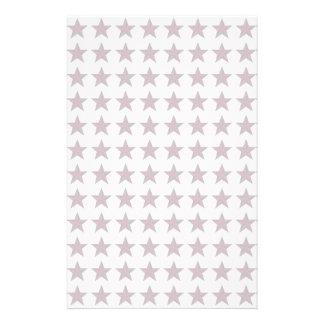 Three-D Patriotic Stars Custom Stationery