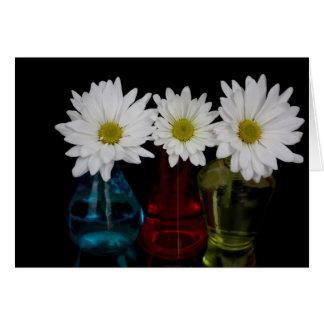 Three Daisies In Cute Jars Card