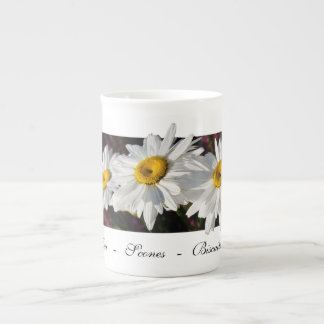 Three Daisies in the Sun - Bone China Cups Bone China Mug