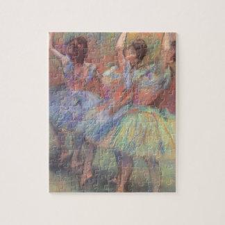 Three Dancers by Edgar Degas, Vintage Ballet Art Jigsaw Puzzle