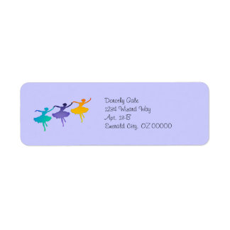 """Three Dancers"" Return Address Label"