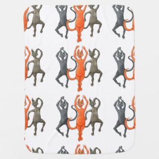 Three Dancing Cats Buggy Blanket