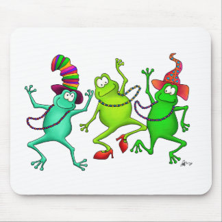 Three Dancing Frogs Mousepad