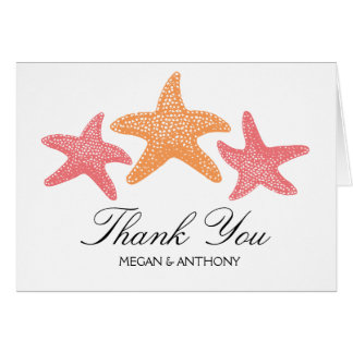 Three Dancing Starfish | Thank You Card