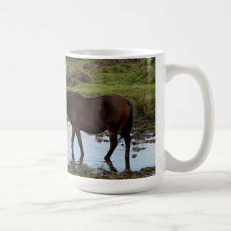 Three Dartmoor Ponies Drinking At Watering Hole Mugs