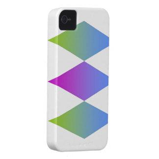 Three Diamonds theme iPhone 4 Case-Mate Case