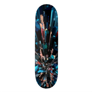 Three Dimensional Color Stacks 21.3 Cm Mini Skateboard Deck