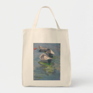 Three Dories print on grocery tote