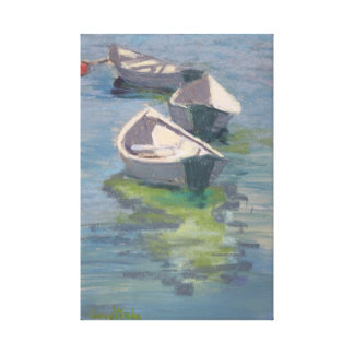Three Dories print on stretched canvas