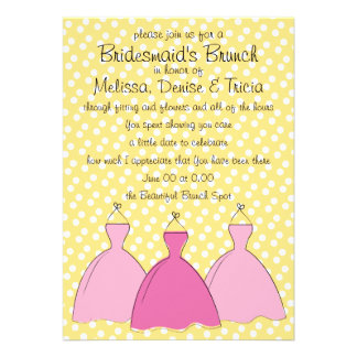 Three dress sketch personalized invitations