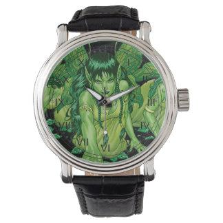 Three Earth Fairies Fantasy Art by Al Rio Watches
