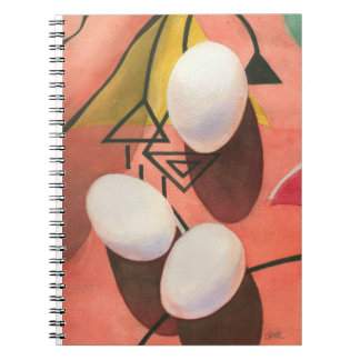 Three Eggs Deco Lined Notebook (80 Pages B&W)