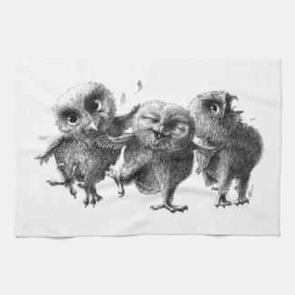 Three emergency Angry Birds Tea Towel