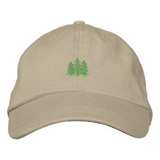 Three Evergreens Embroidered Hats