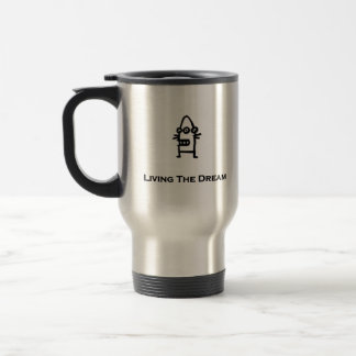 Three Eye Bot Living The Dream Travel Mug