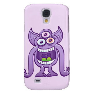 Three-eyed alien monster laughing mischievously galaxy s4 case
