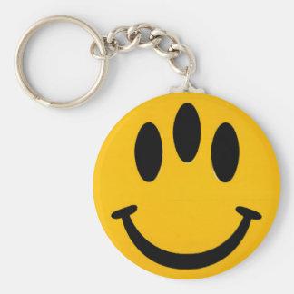 Three-Eyed Smiley Keychain