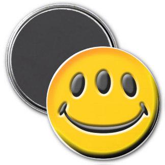 Three-Eyed Smiley Magnet