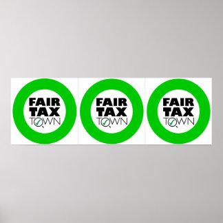 Three Fair Tax Town posters 12x12 inches