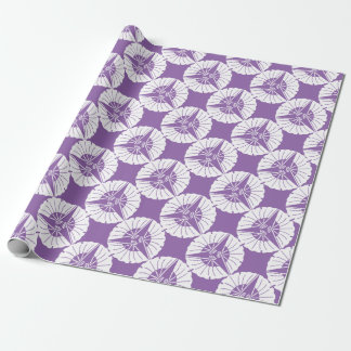 Three fan ginkgoes wrapping paper