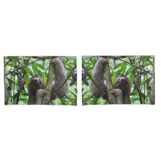 Three finger sloth pillowcase