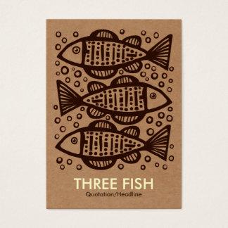 Three Fish - Cardboard Box Tex