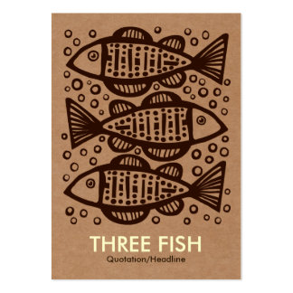 Three Fish - Cardboard Box Tex Large Business Cards (Pack Of 100)