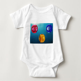 THREE FISH IN MEDIO_result.JPG Baby Bodysuit