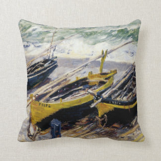 Three Fishing Boats by Monet Cushion