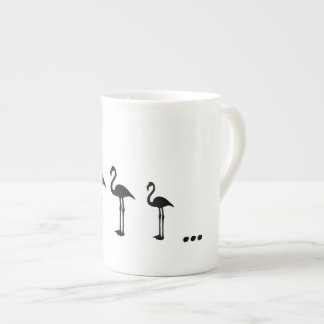 Three Flamingo Birds and dots mug / cup